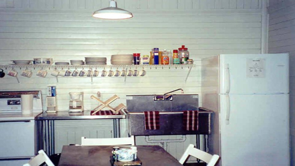 a fully-stocked kitchen