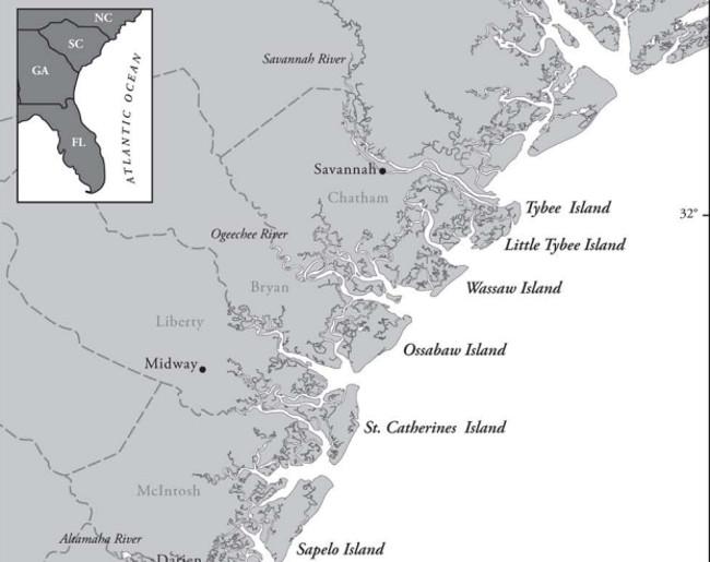 Georgia Coastal Area Map