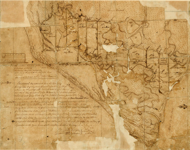 1760 Ossabaw Map by Henri Young & William DeBrahm