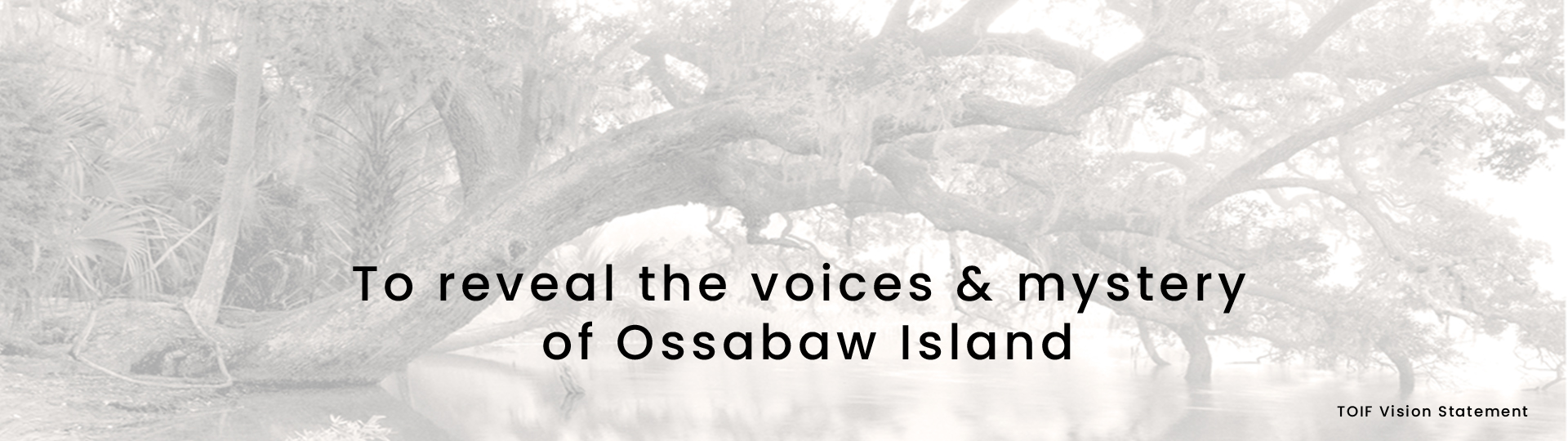 To reveal the voices and mystery of Ossabaw Island